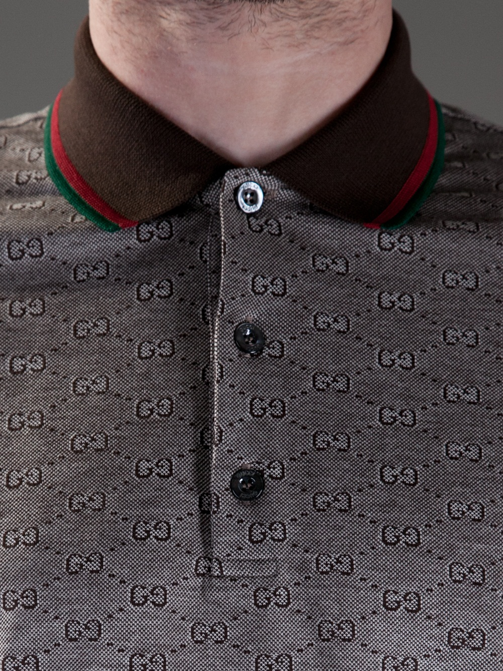 Lyst Gucci Monogram Polo Shirt In Brown For Men