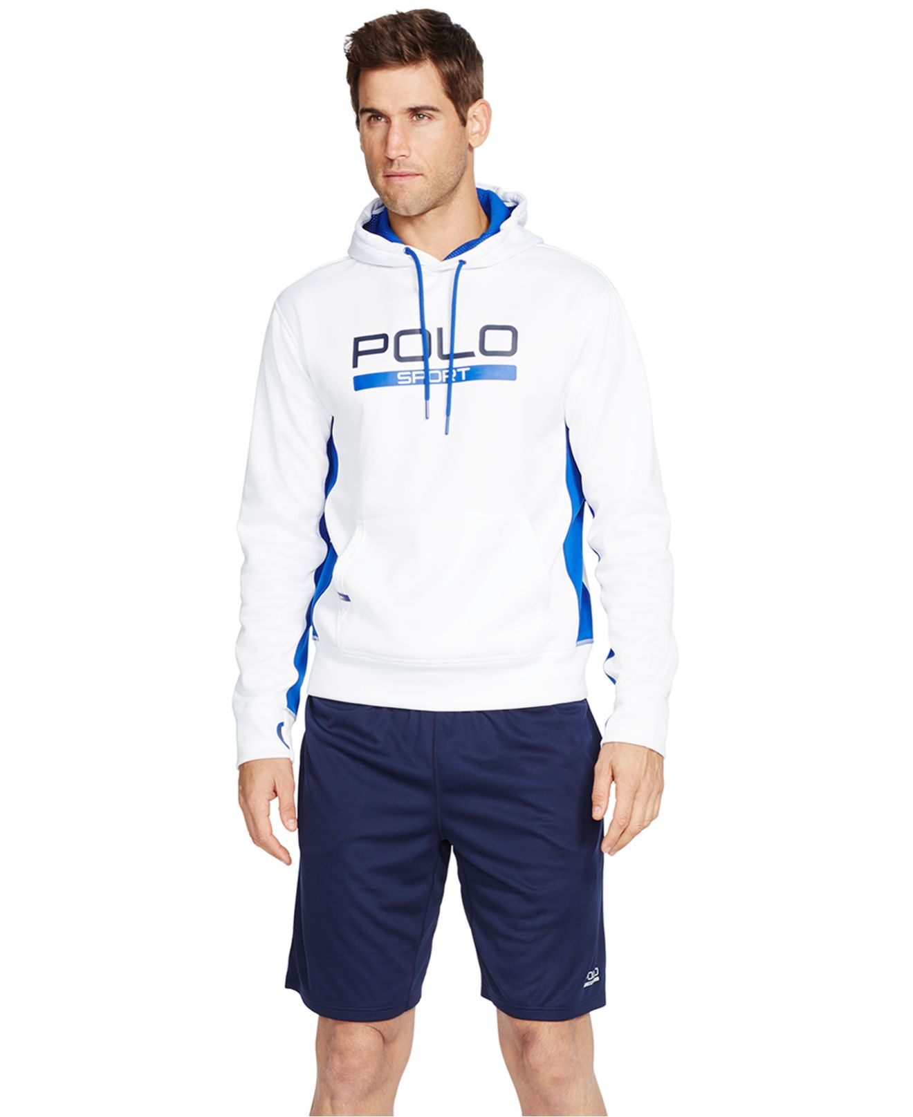 polo ralph lauren polo sport men 39 s athletic shorts in blue. Black Bedroom Furniture Sets. Home Design Ideas