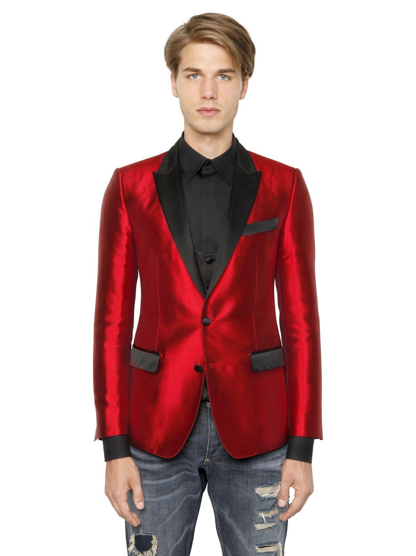 Printed Tuxedo Jacket