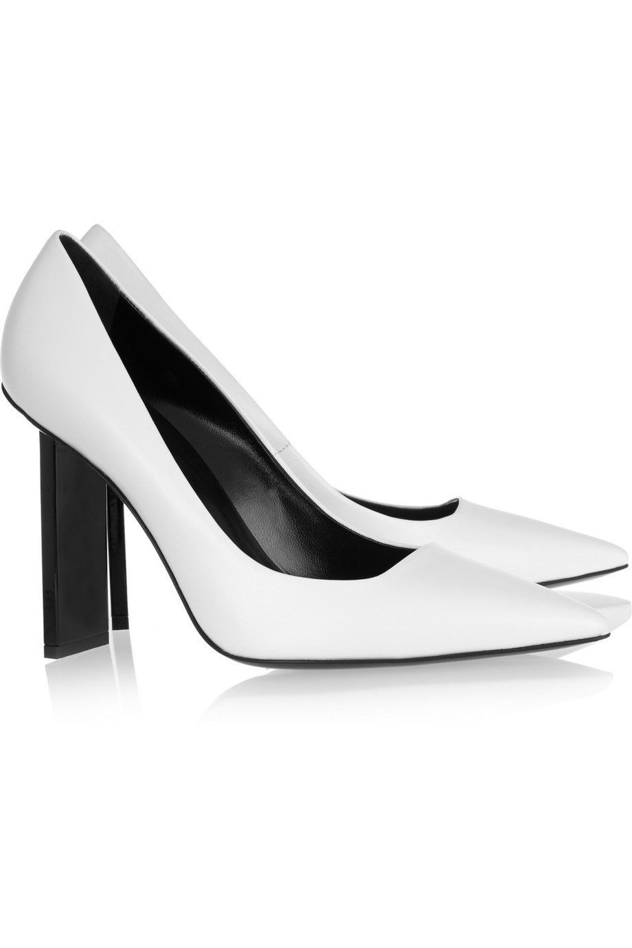 ce1f313cc18 Lyst - Pierre Hardy Leather Pumps in White