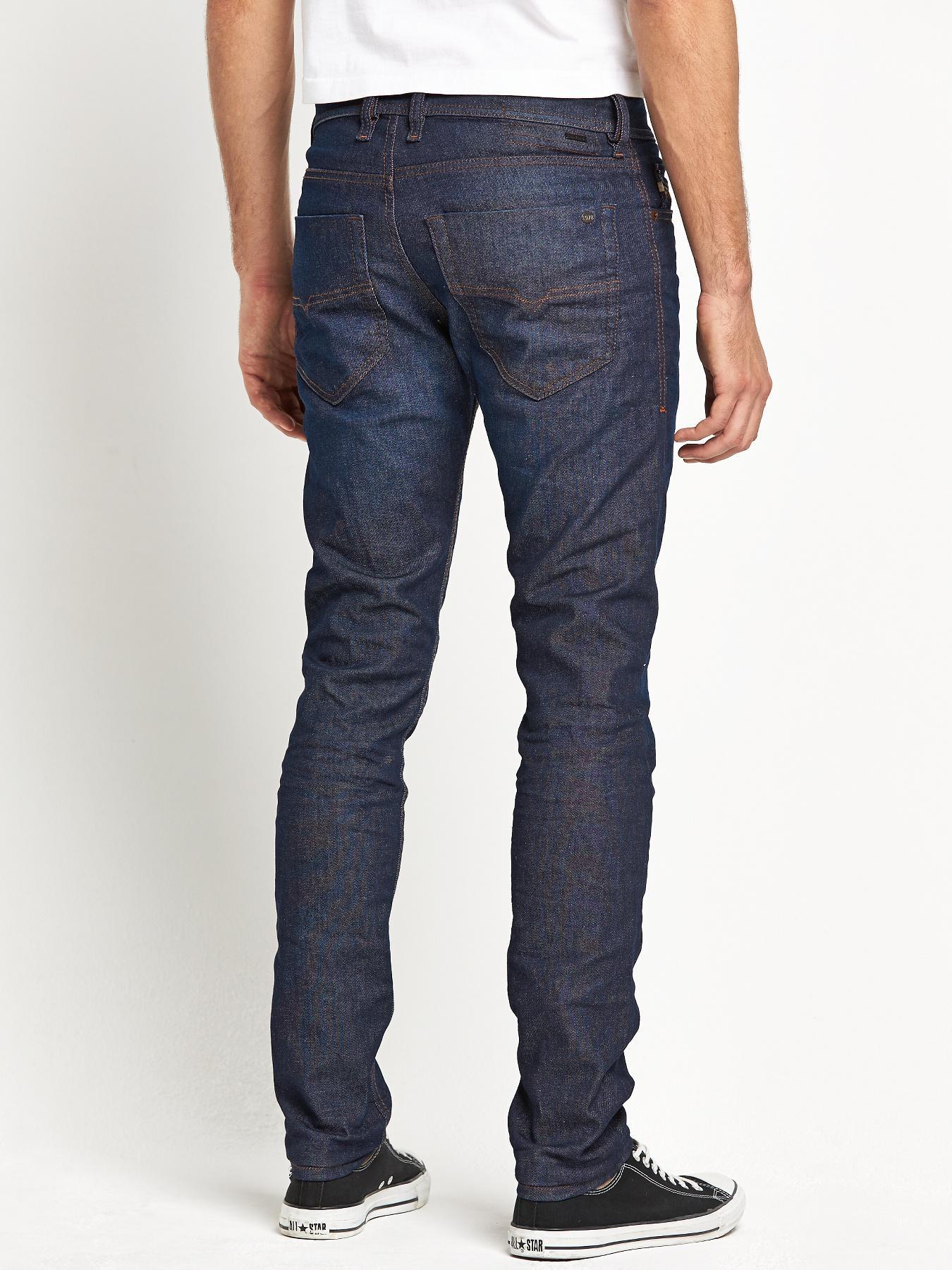 Diesel Mens Tephar 837n Slim Tapered Jeans in Blue for Men (blue/gold) | Lyst