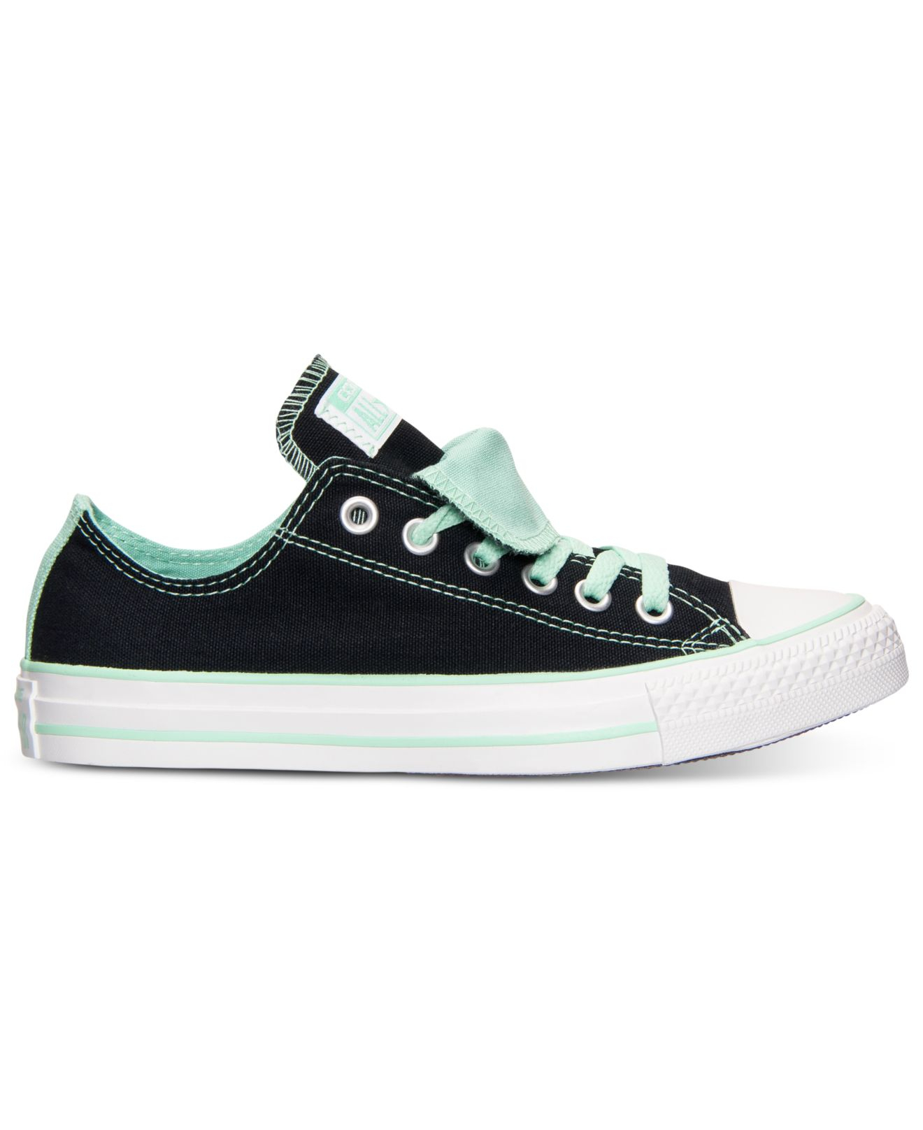 e9cffb6b13f775 Lyst - Converse Women S Chuck Taylor All Star Double Tongue Casual Sneakers  From Finish Line in Green