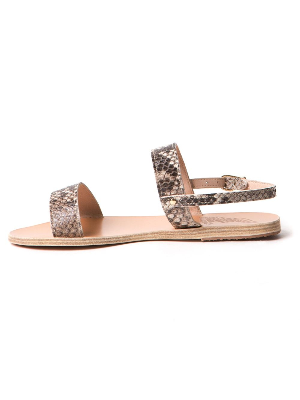 Ancient Greek Sandals Clio Flat Sandal In Beige Nude  Neutrals  Lyst-9756