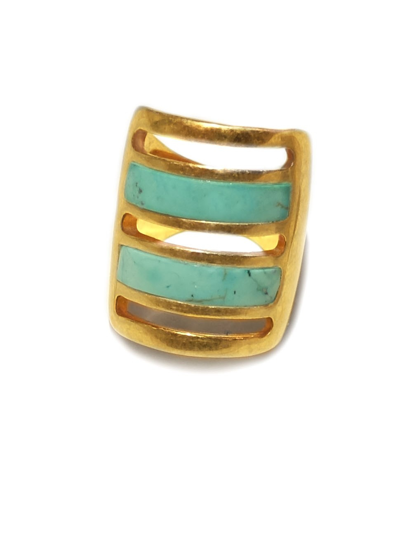 Maison Margiela Ring Brass Blue