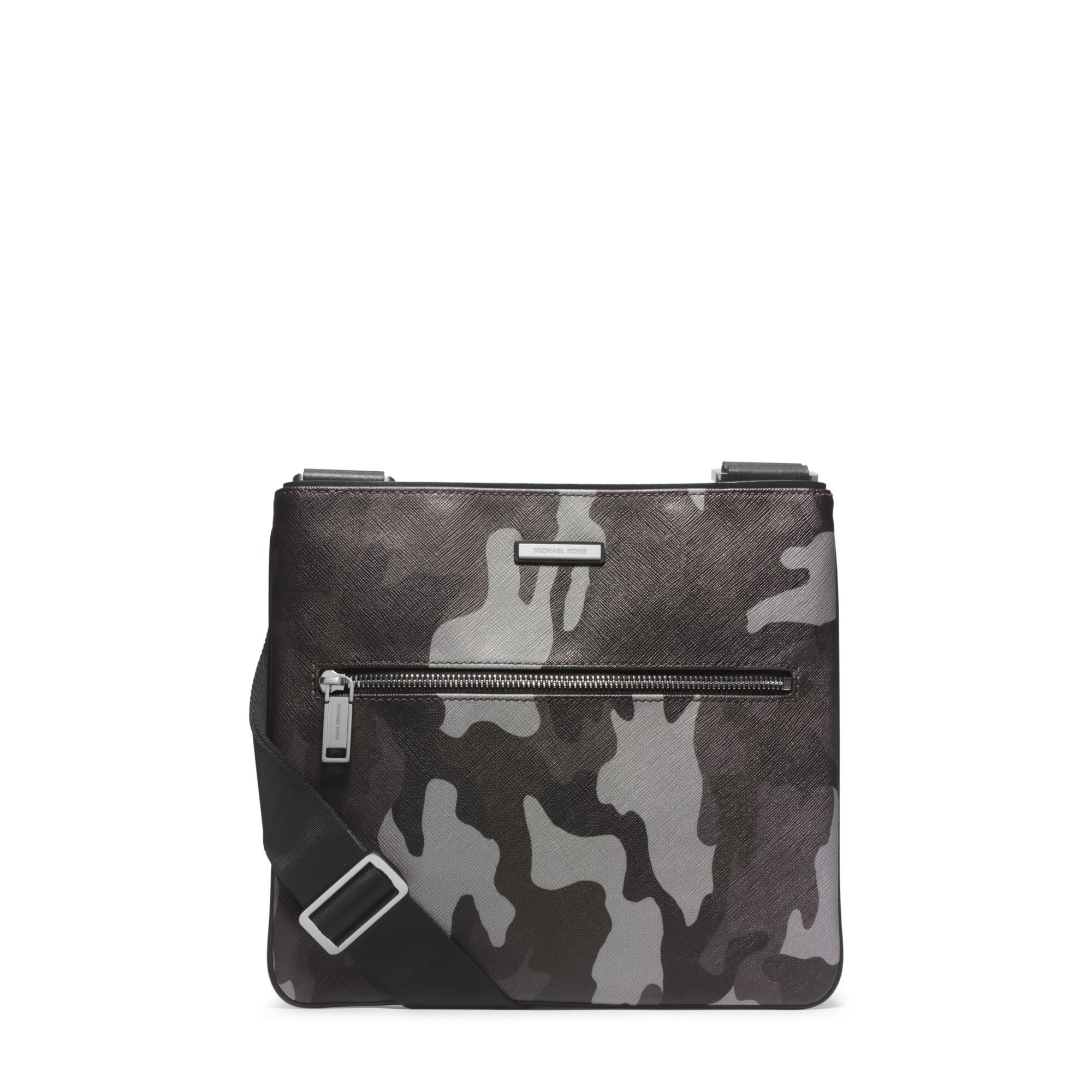 4eafbe4d5446 Lyst - Michael Kors Jet Set Men s Camouflage Small Crossbody in Gray ...