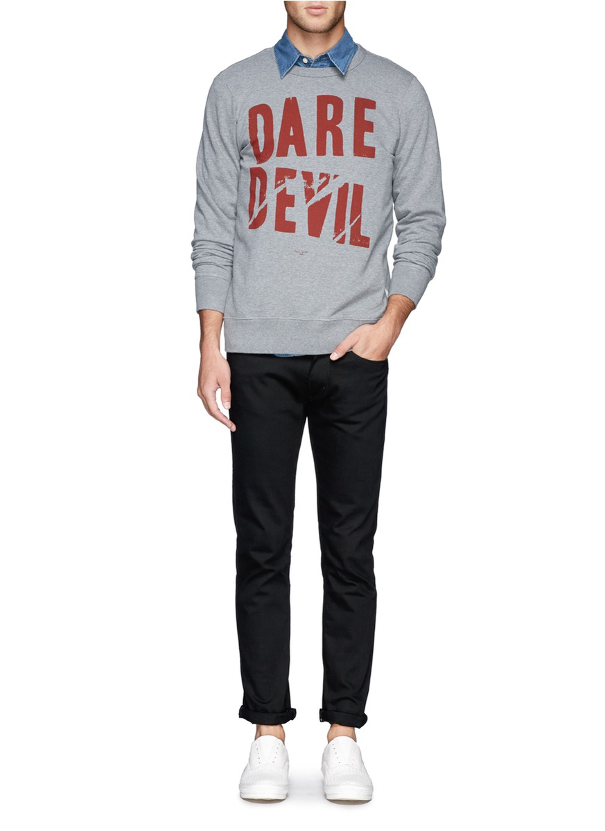 Lyst paul smith text print sweatshirt in gray for men for Paul smith doctor who shirt