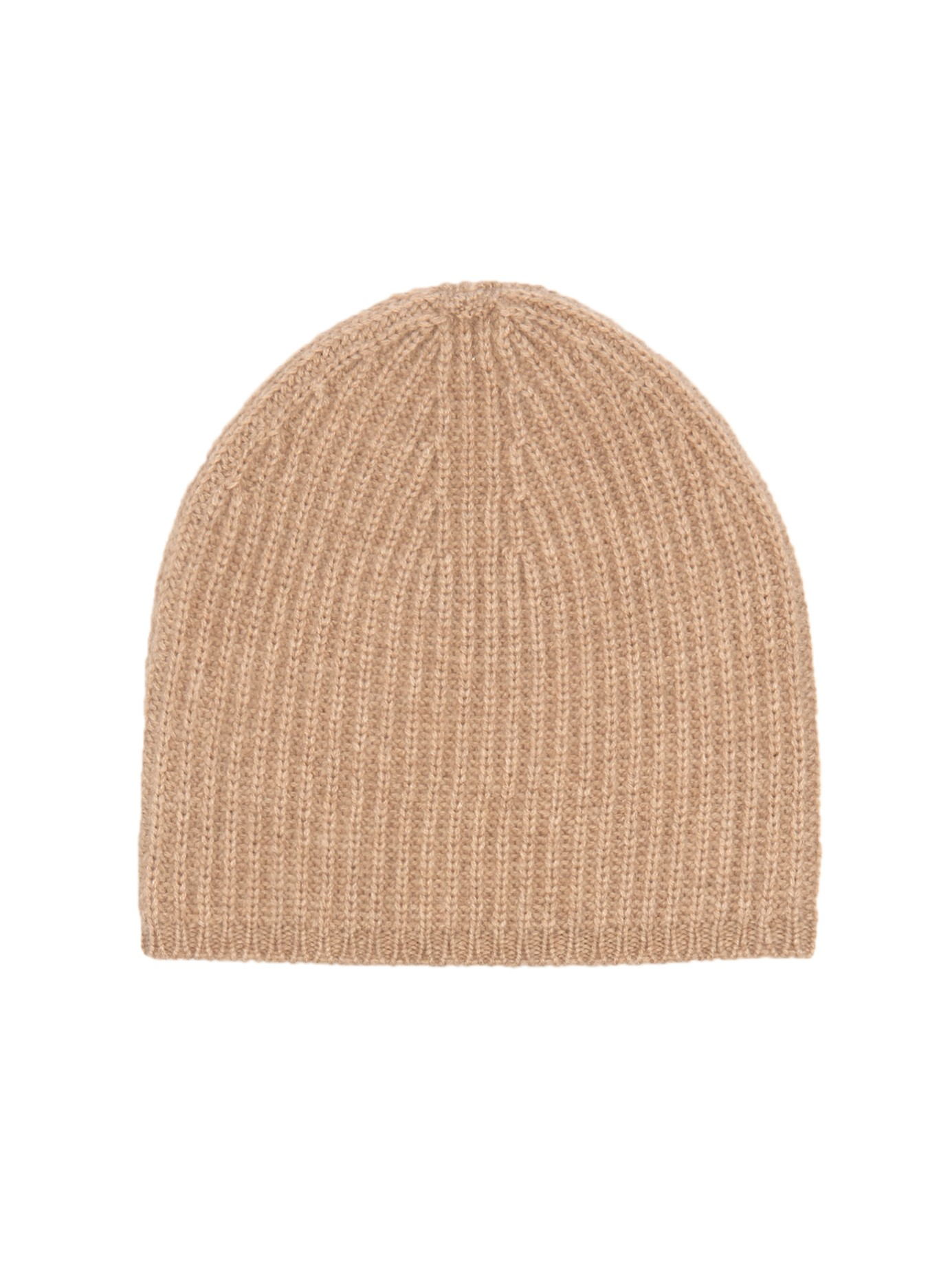 Knitting Pattern Cashmere Hat : Denis colomb Ribbed-knit Cashmere Beanie Hat in Natural Lyst