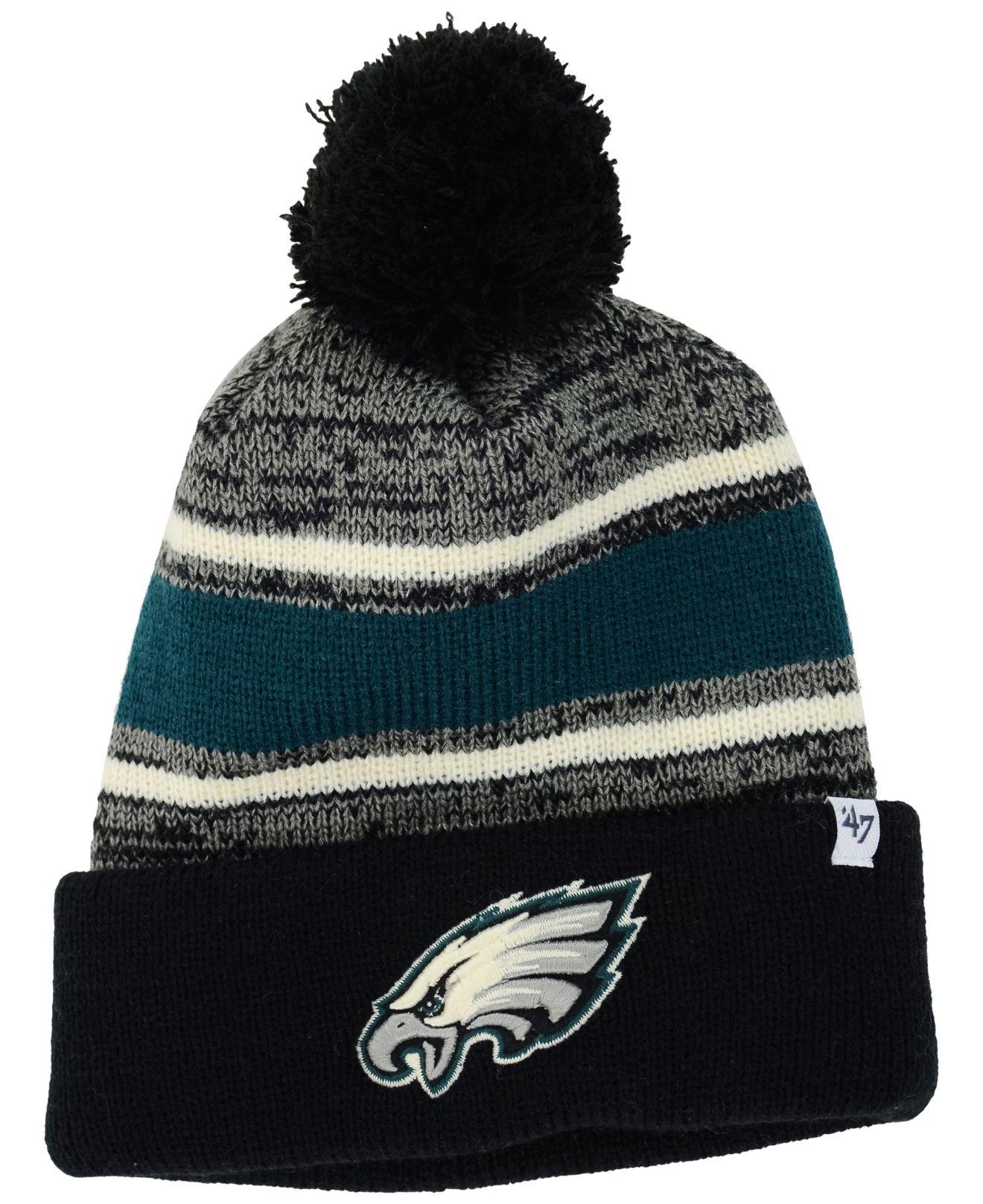 Lyst - 47 Brand Philadelphia Eagles Fairfax Pom Knit Hat in Black ... 97ad220e001