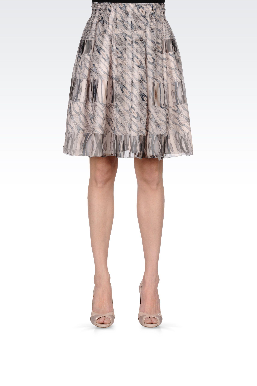 armani high waist skirt in chiffon in pink light pink lyst