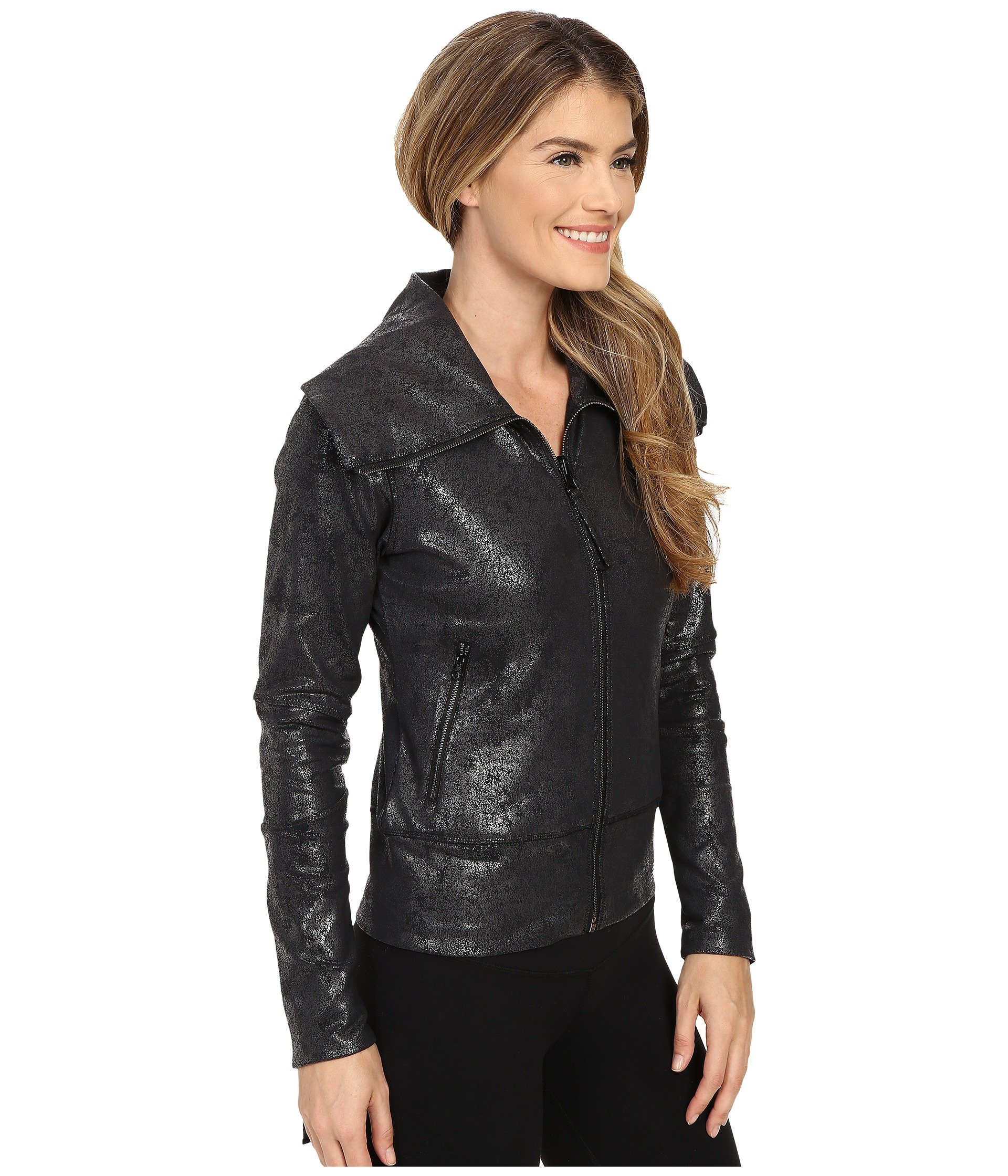 Women's New Balance Shadow Moto Jacket Black Multi