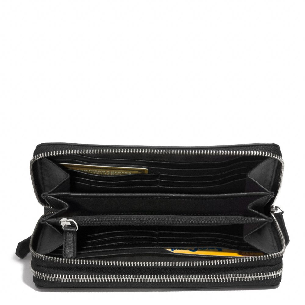 Lyst Coach Double Zip Travel Organizer In Op Art Embossed Leather In Black For Men