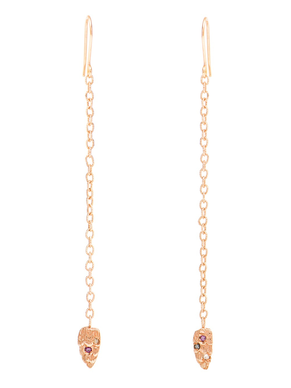 Lyst - Carolina bucci 18karat Pink Gold and Diamond Owl Chain ...