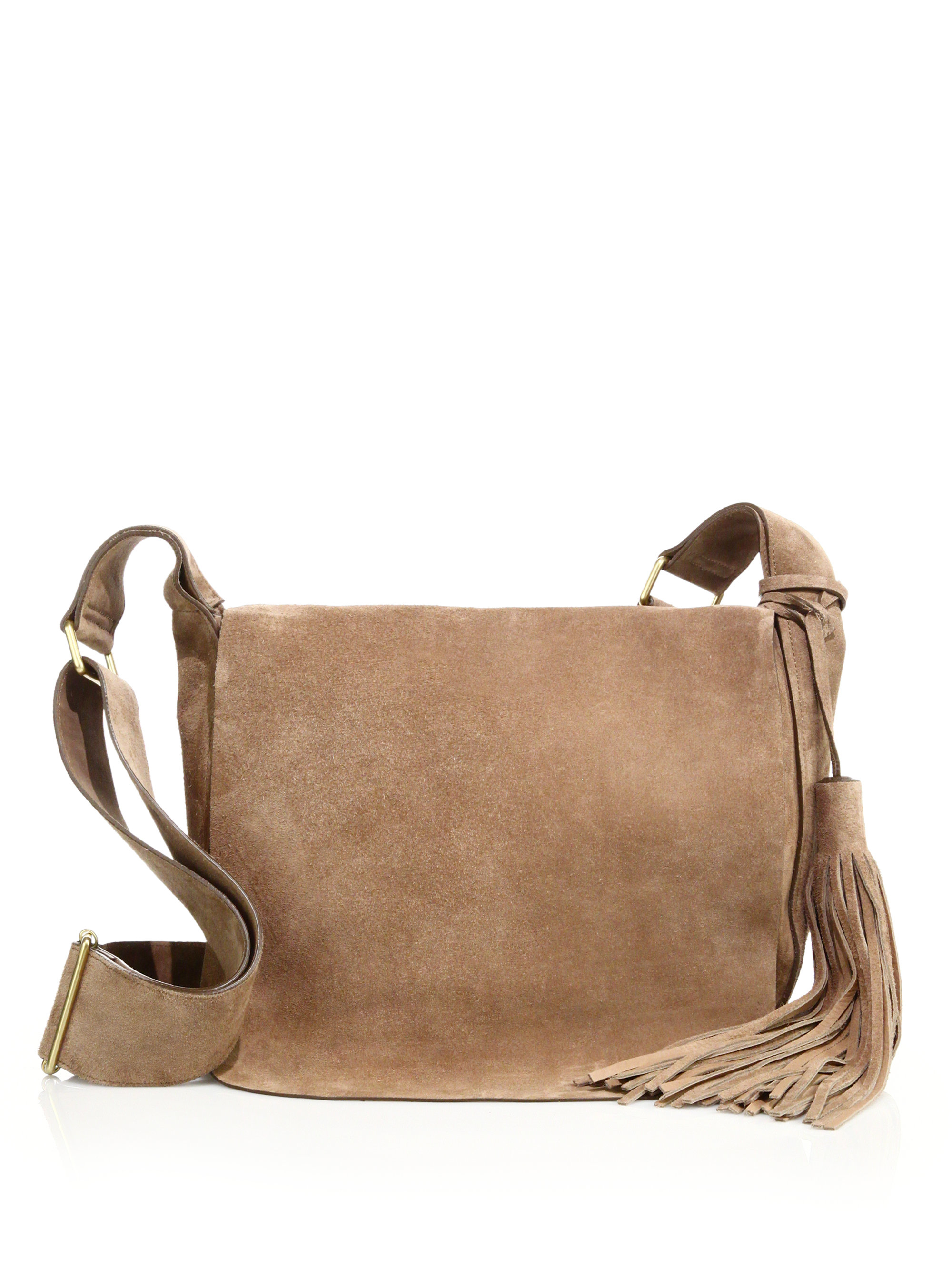 60da707bb105 Lyst - A.L.C. Jackson Suede Crossbody Bag in Natural