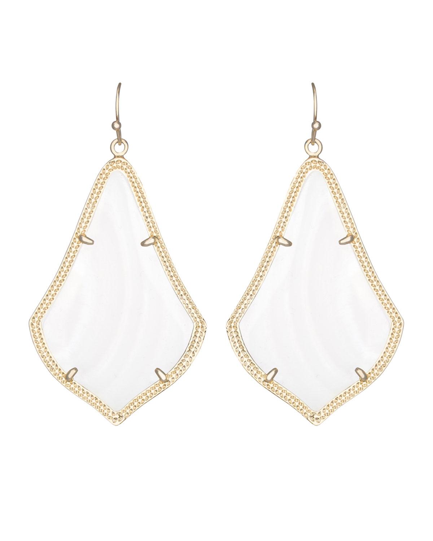 Lyst Kendra Scott Alexandra Earrings In White