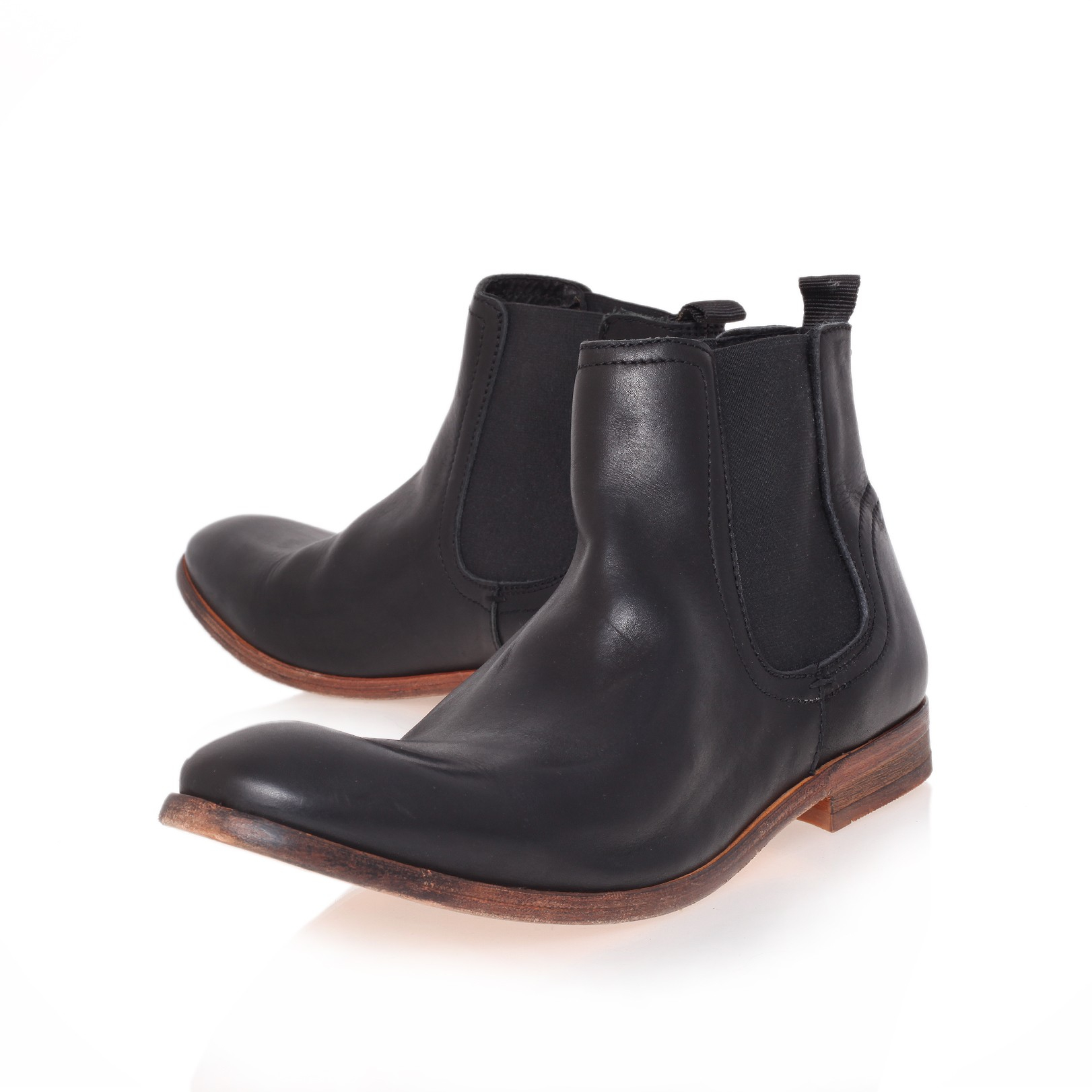 h by hudson patterson chelsea boot in black for men lyst. Black Bedroom Furniture Sets. Home Design Ideas