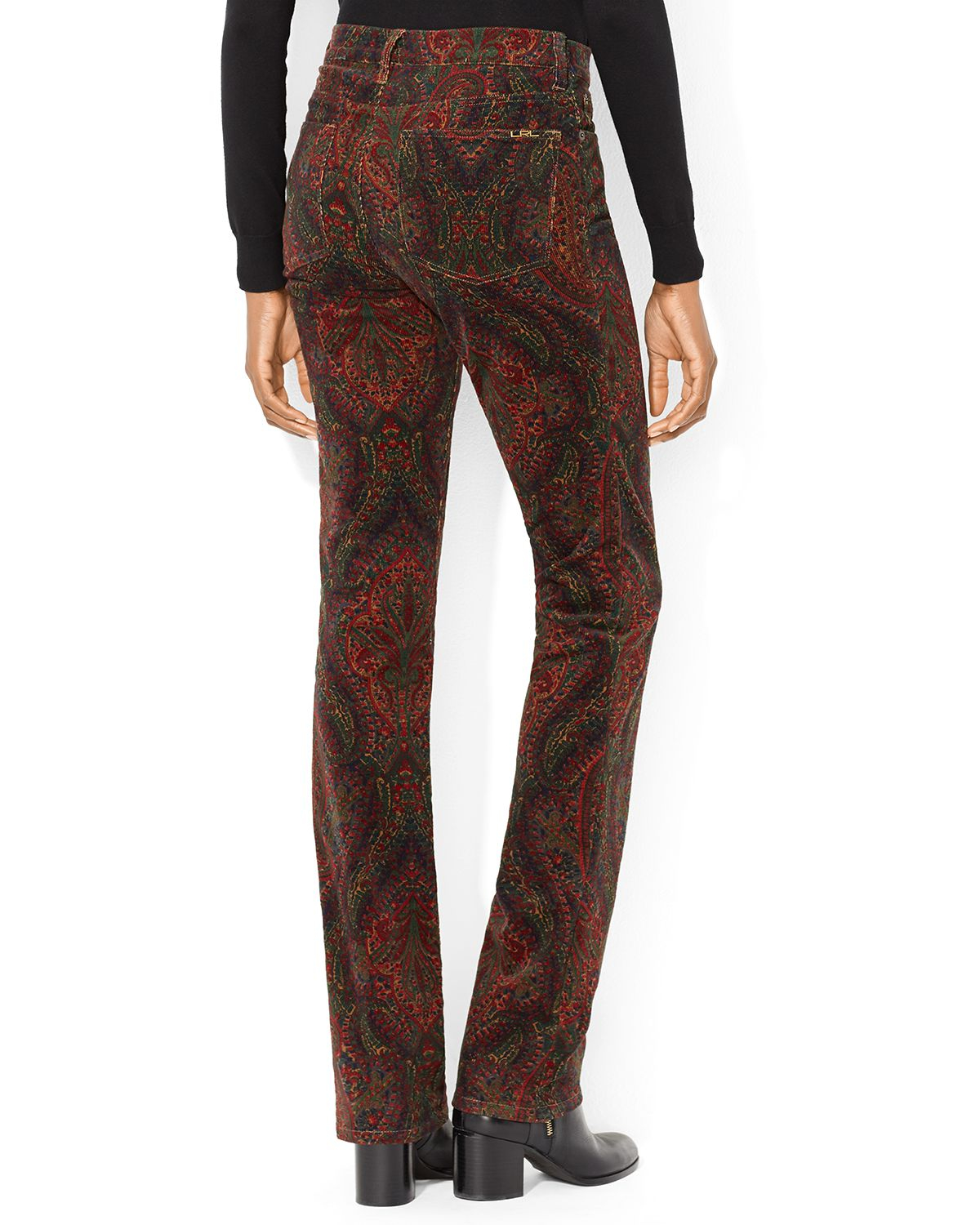 Ralph lauren Lauren Paisley Corduroy Pants in Brown | Lyst
