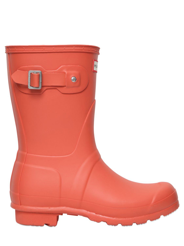 Hunter Original Short Rubber Boots in Orange | Lyst