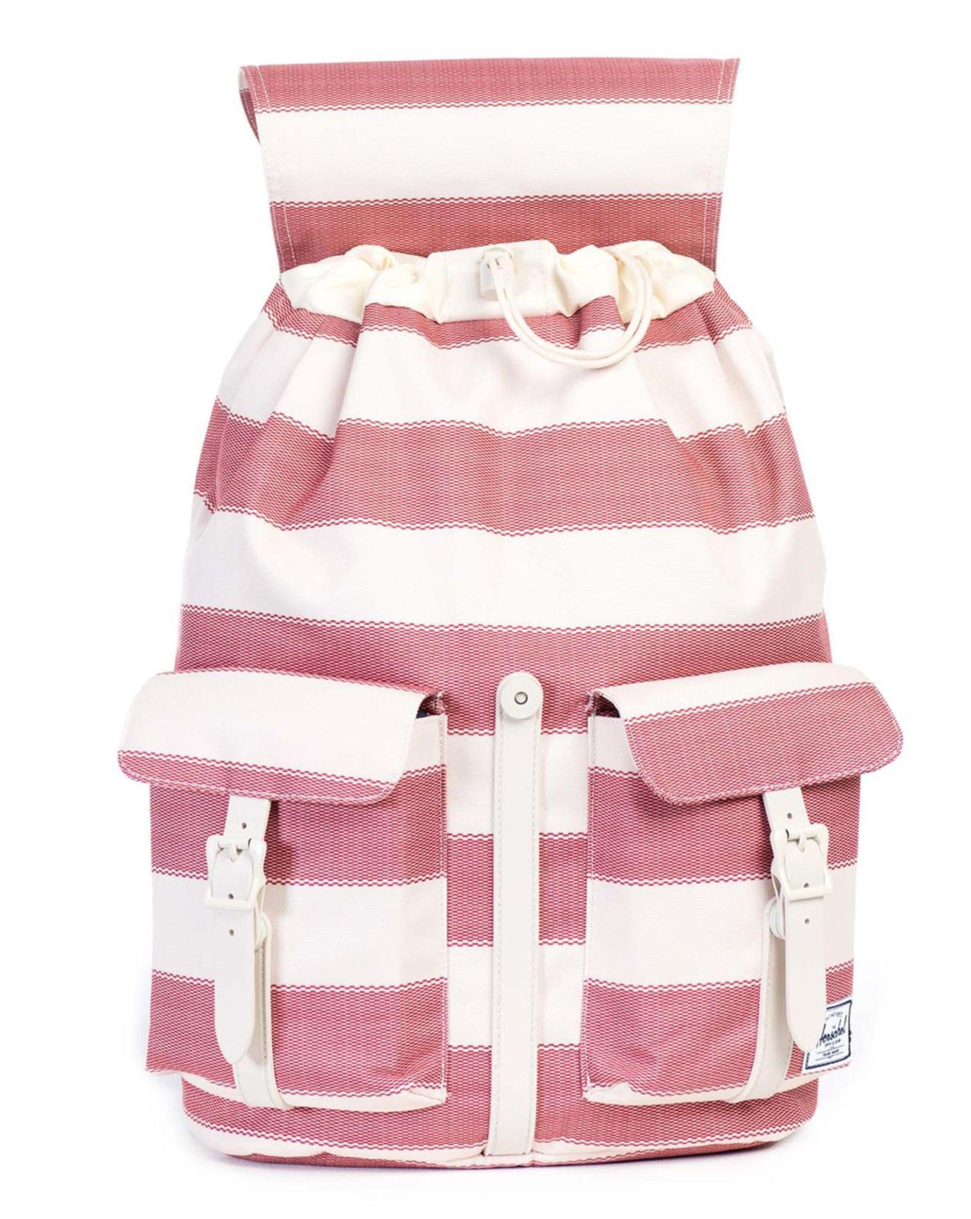 herschel supply co red beige striped dawson backpack 23 5 l in red for men lyst. Black Bedroom Furniture Sets. Home Design Ideas