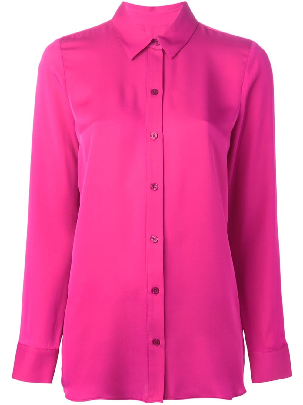 Lyst michael michael kors back pleated shirt in pink for Michael kors mens shirts sale