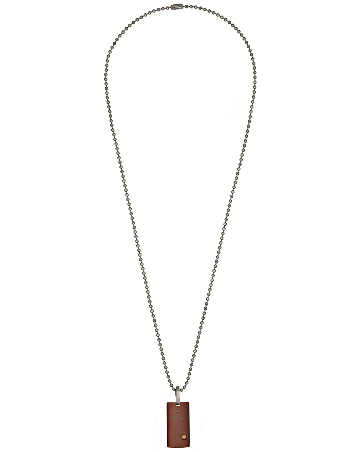 Damiani Brown Stainless Steel Uomo Pendant Necklace W ...