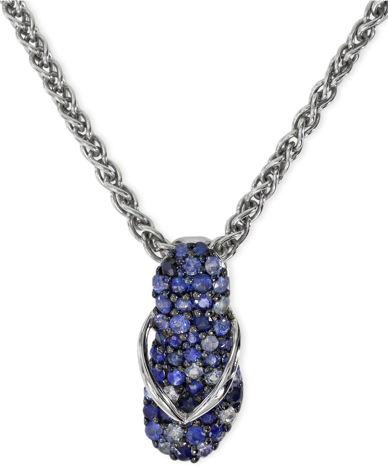 silver orders overstock pendant preciosa la sterling product created opal flip jewelry necklace blue over flop on watches shipping free