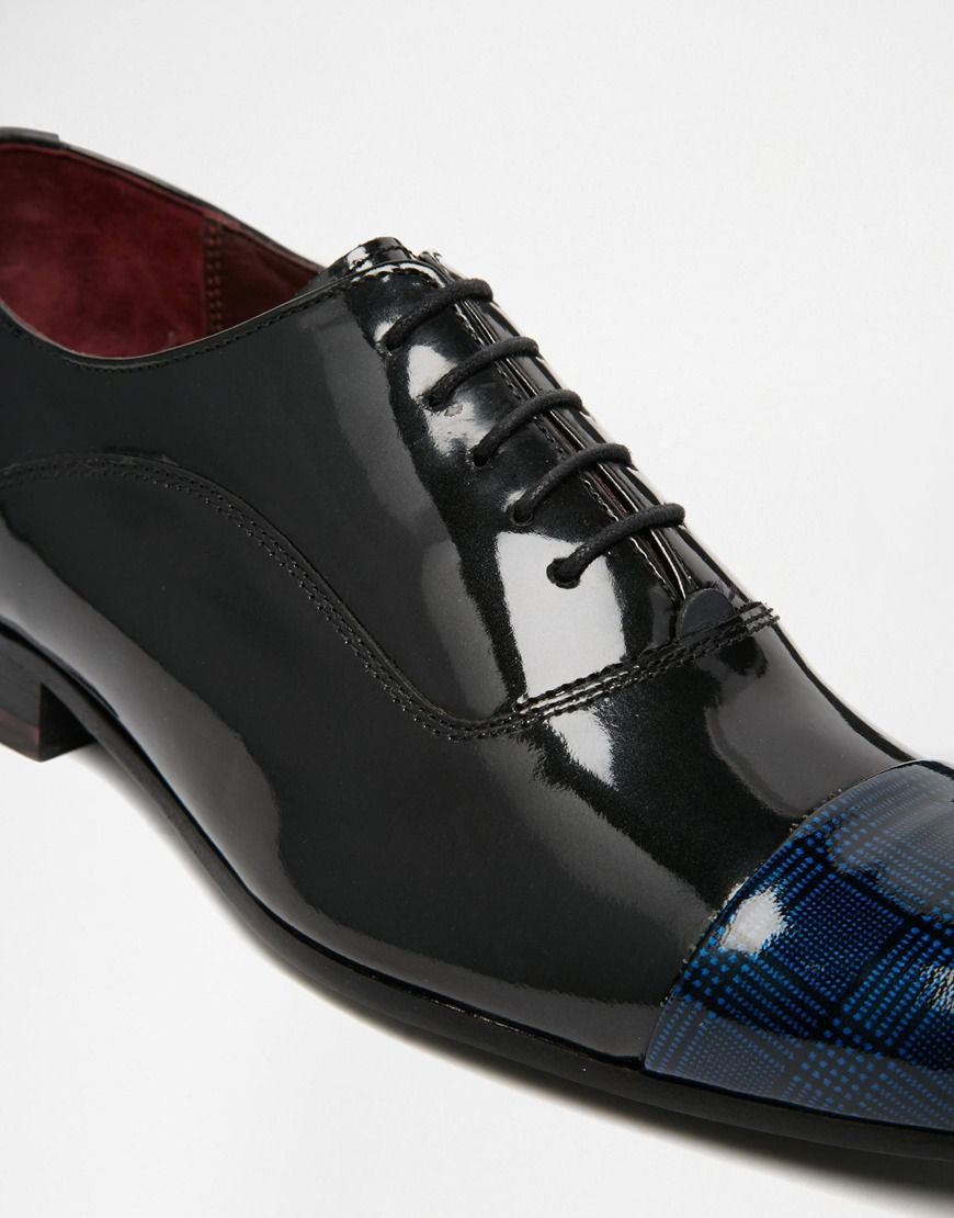Buy Men Shoes / Ted Baker Archeey Patent Toe Oxford Shoes