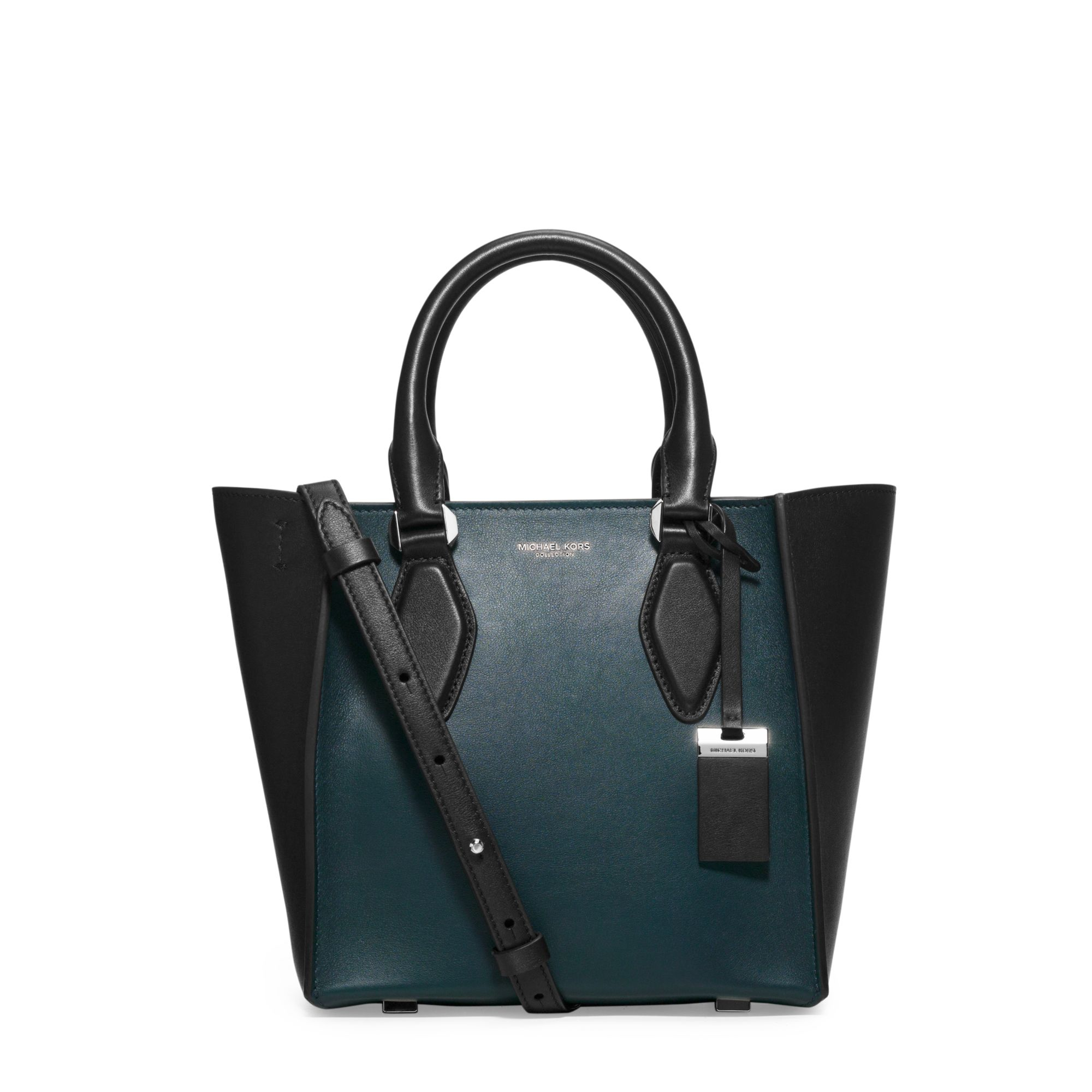 3082b9799f60 Michael Kors Gracie Small Two-tone Leather Tote in Blue - Lyst