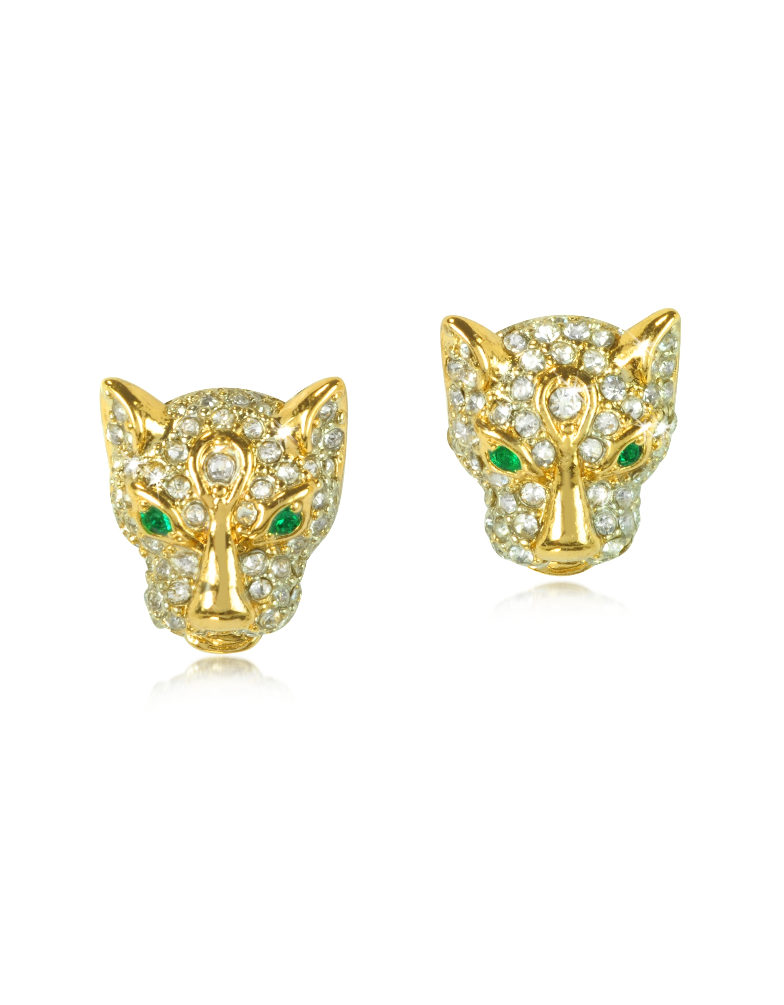 juicy couture pave leopard stud earring in gold lyst. Black Bedroom Furniture Sets. Home Design Ideas