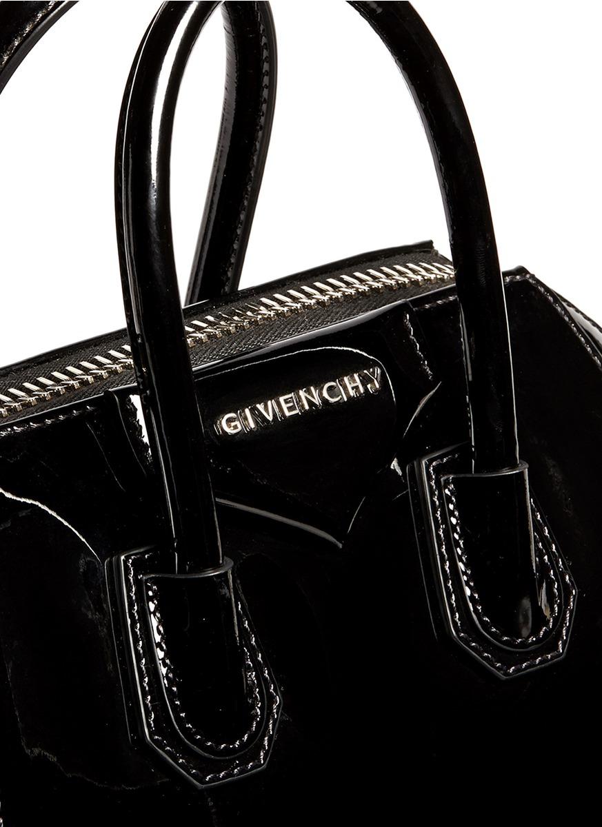 716394ea6f Lyst - Givenchy  antigona  Mini Patent Leather Bag in Black