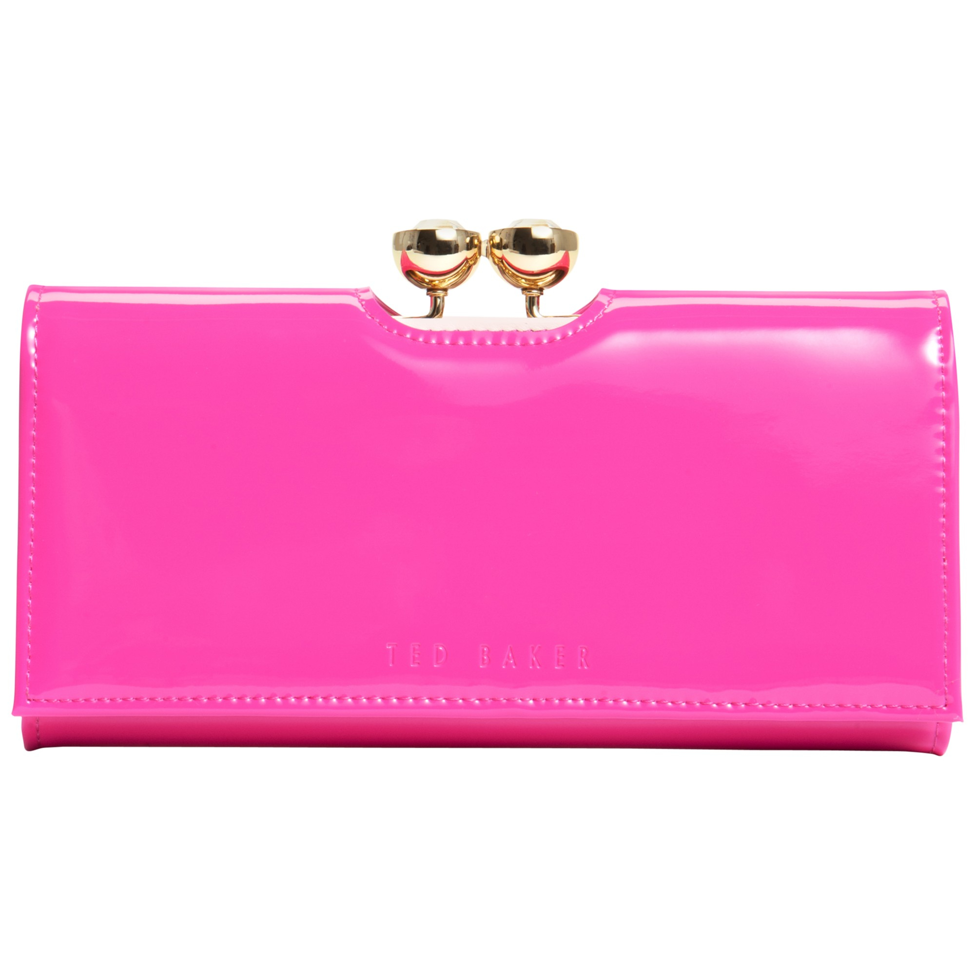 0ab3a59efe3f Ted Baker Kassady Crystal Bobble Leather Matinee Purse in Pink - Lyst