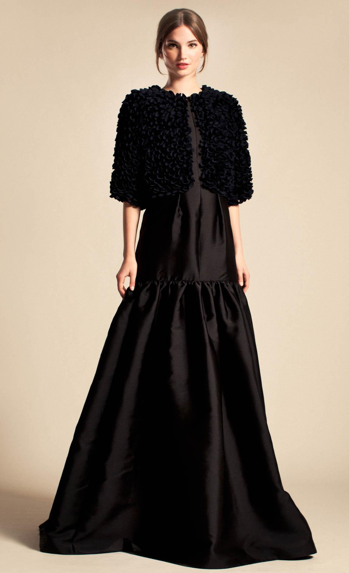 Lyst Temperley London Long Rosa Dress In Black
