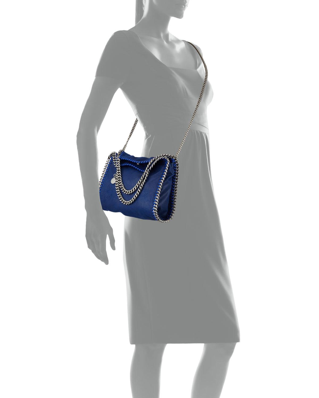 lyst stella mccartney falabella mini chain tote bag in blue. Black Bedroom Furniture Sets. Home Design Ideas