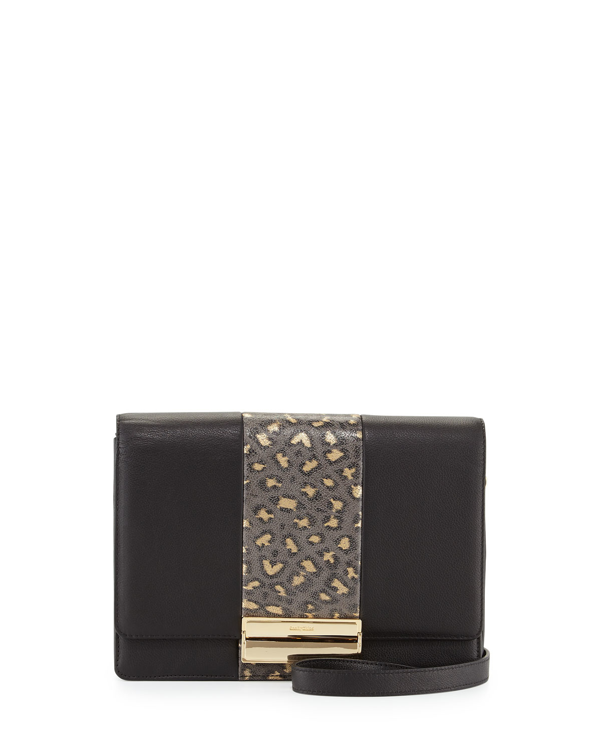 See by chlo�� Kristen Leopard-print Leather Crossbody Bag in Black ...