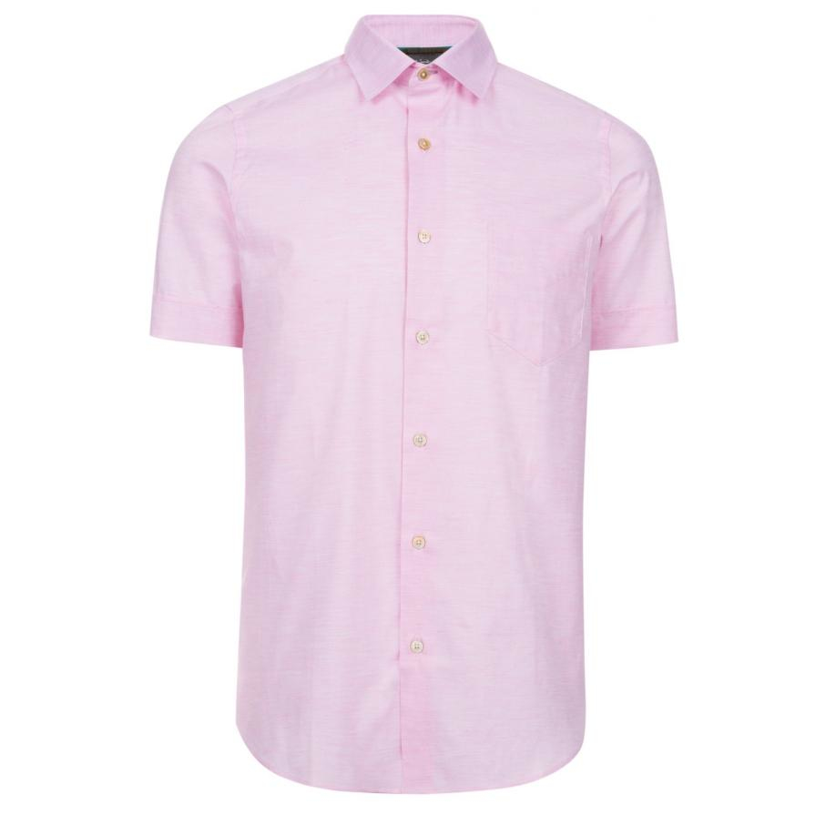 Paul smith Men's Pink Short-sleeve Slub-cotton Shirt in Pink for ...
