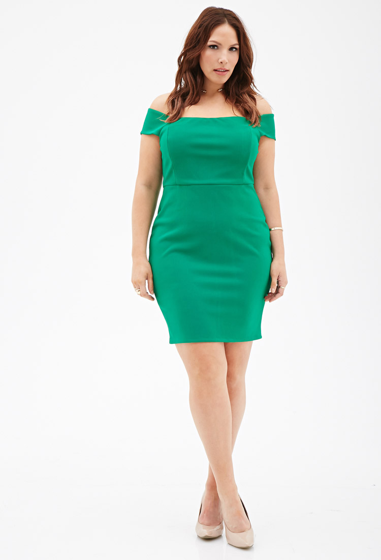 8e352e66a37 Plus Size Off The Shoulder Dress Forever 21