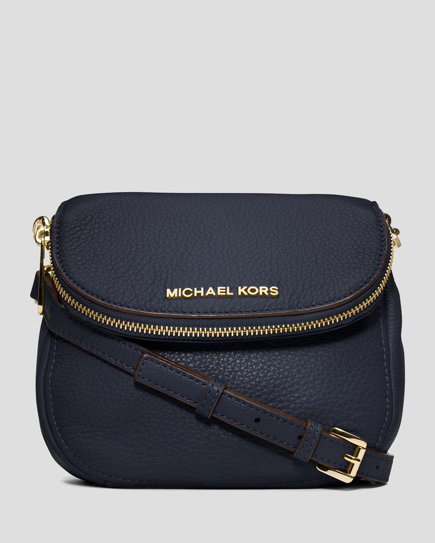 bd07e1b63f36 ... discount lyst michael michael kors crossbody bedford flap in blue 4e4aa  4d865