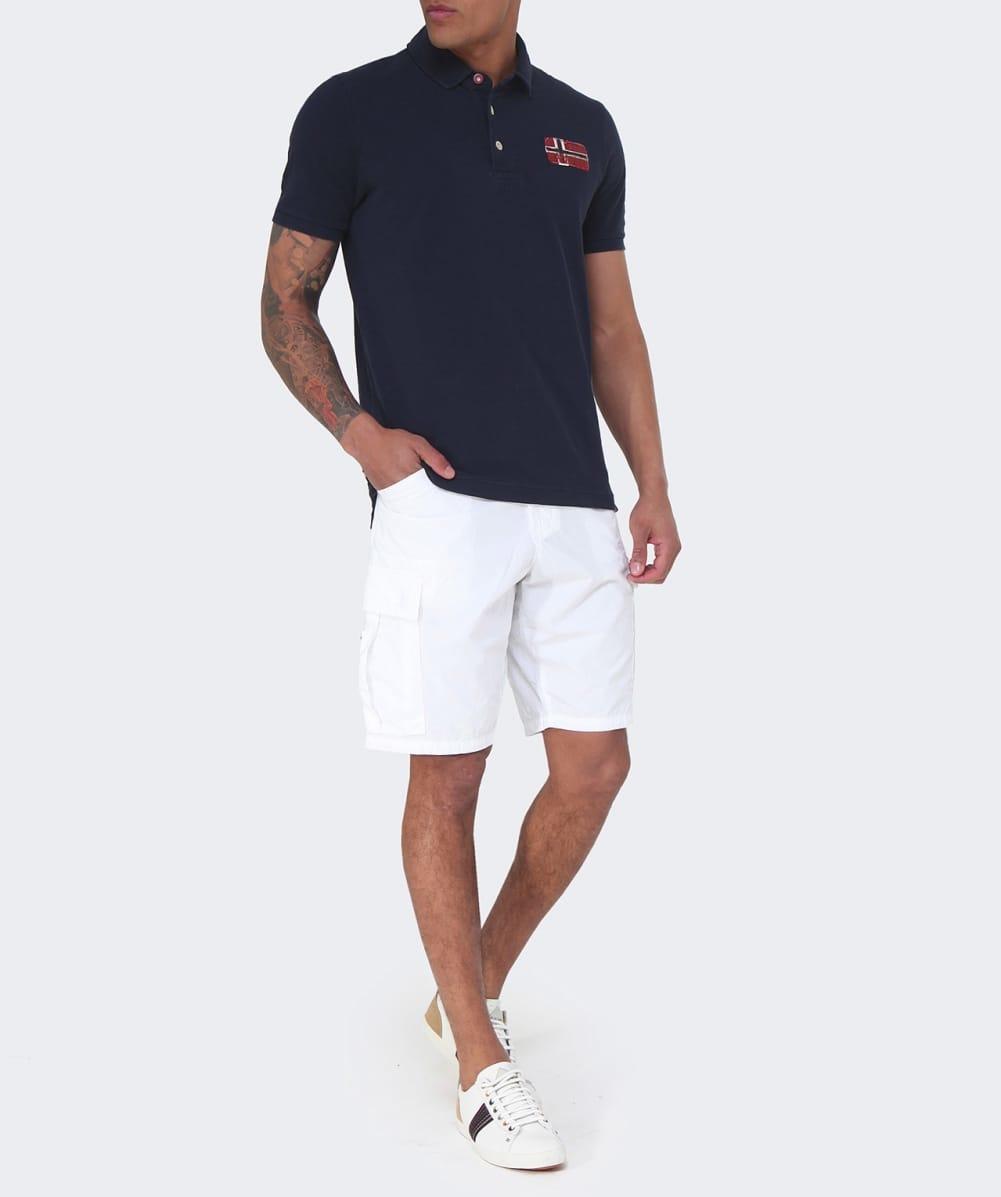 Napapijri Noto Bermuda Shorts in White for Men | Lyst