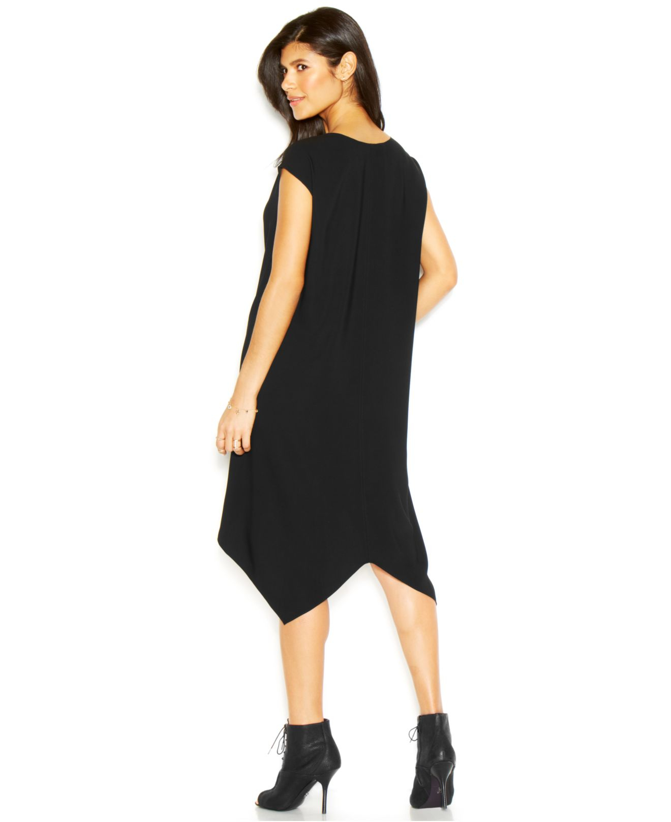 Lyst Rachel Rachel Roy Sydney Dress Cap Sleeve V Neck