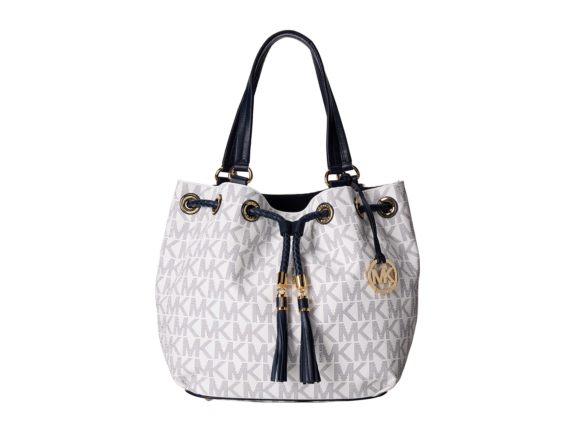 f24a780ba22e ebay lyst michael michael kors jet set large gathered tote in gray 65f6f  de381