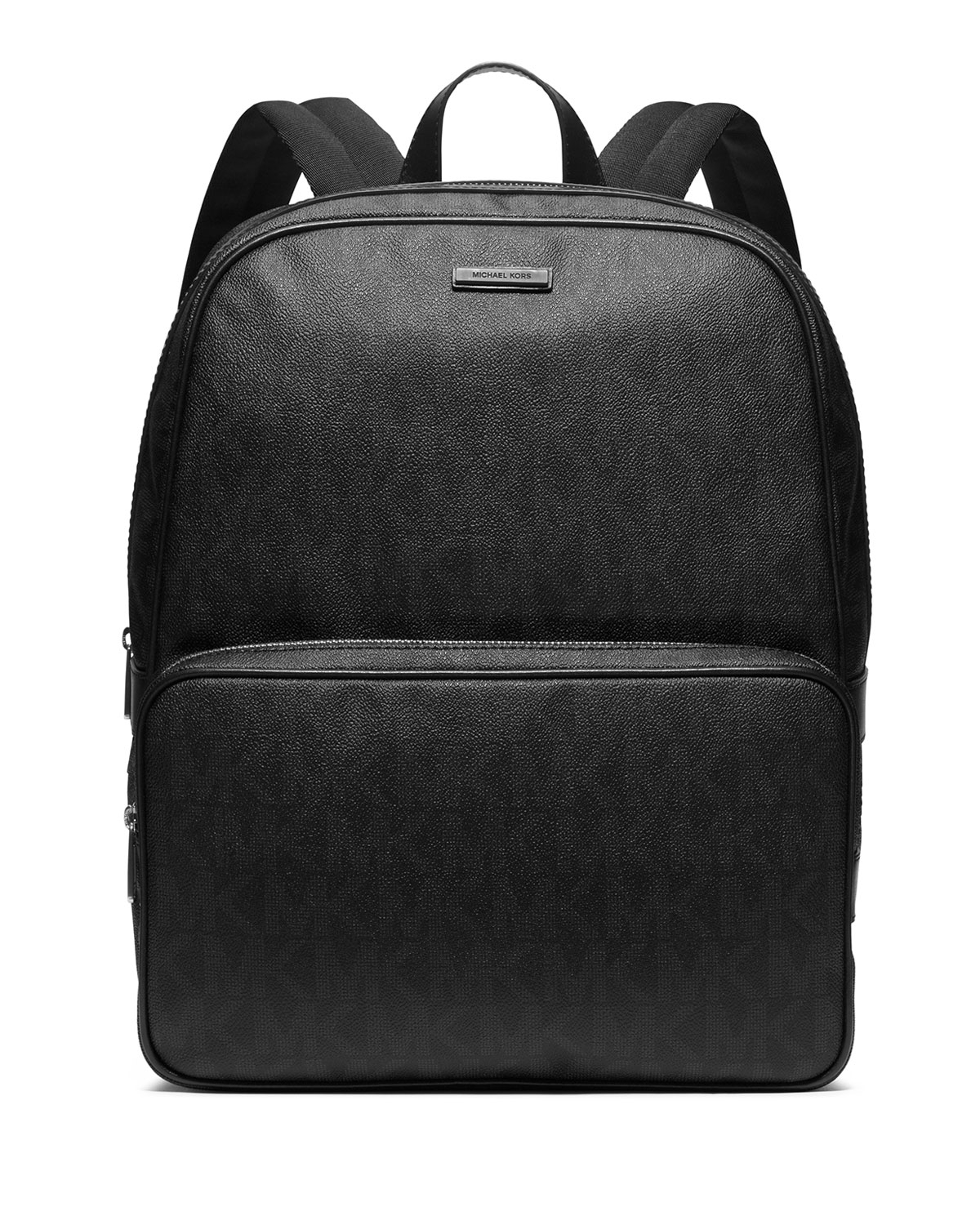 379f1d235d9ab ... real lyst michael kors logo print faux leather backpack in black for men  93cc7 8df18