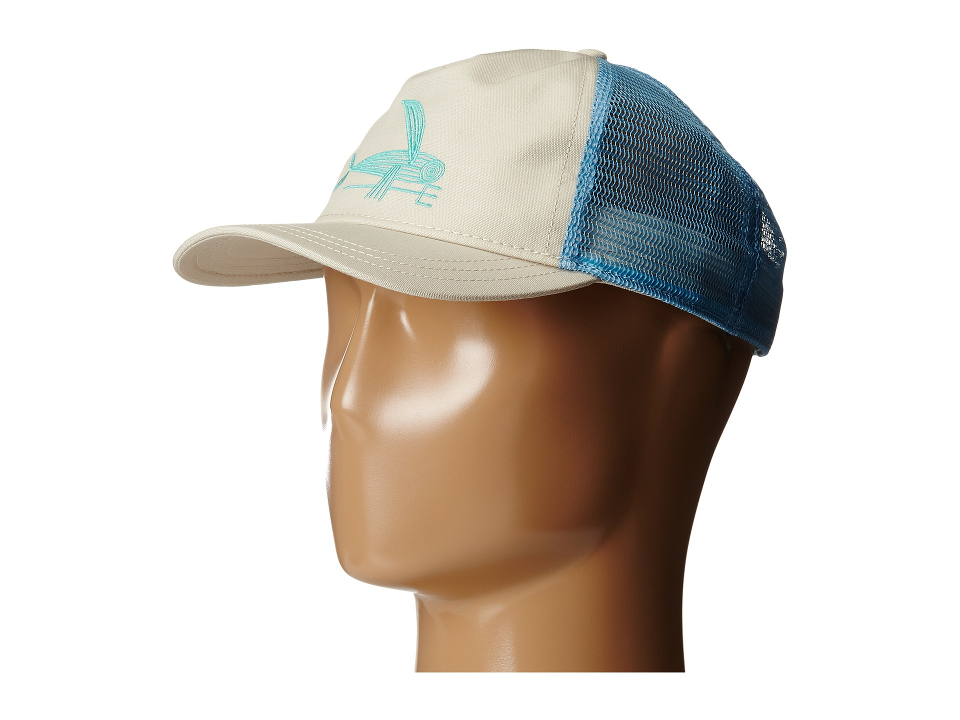 05f06cf5 Patagonia Deconstructed Flying Fish Layback Trucker Hat in Blue - Lyst