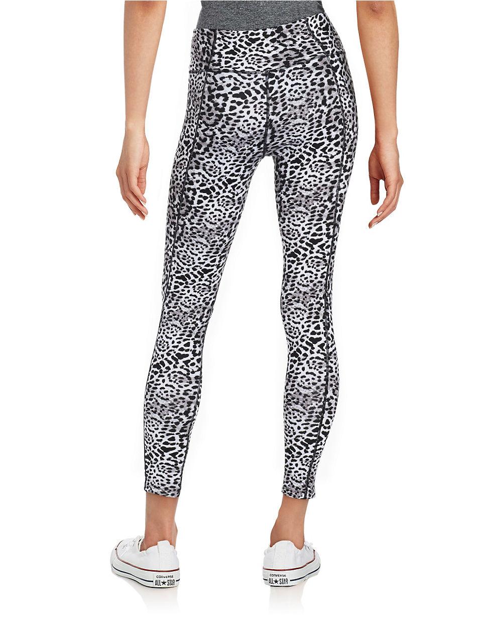 1f531c211f70 Betsey Johnson Animal Print Athletic Pants in Black - Lyst