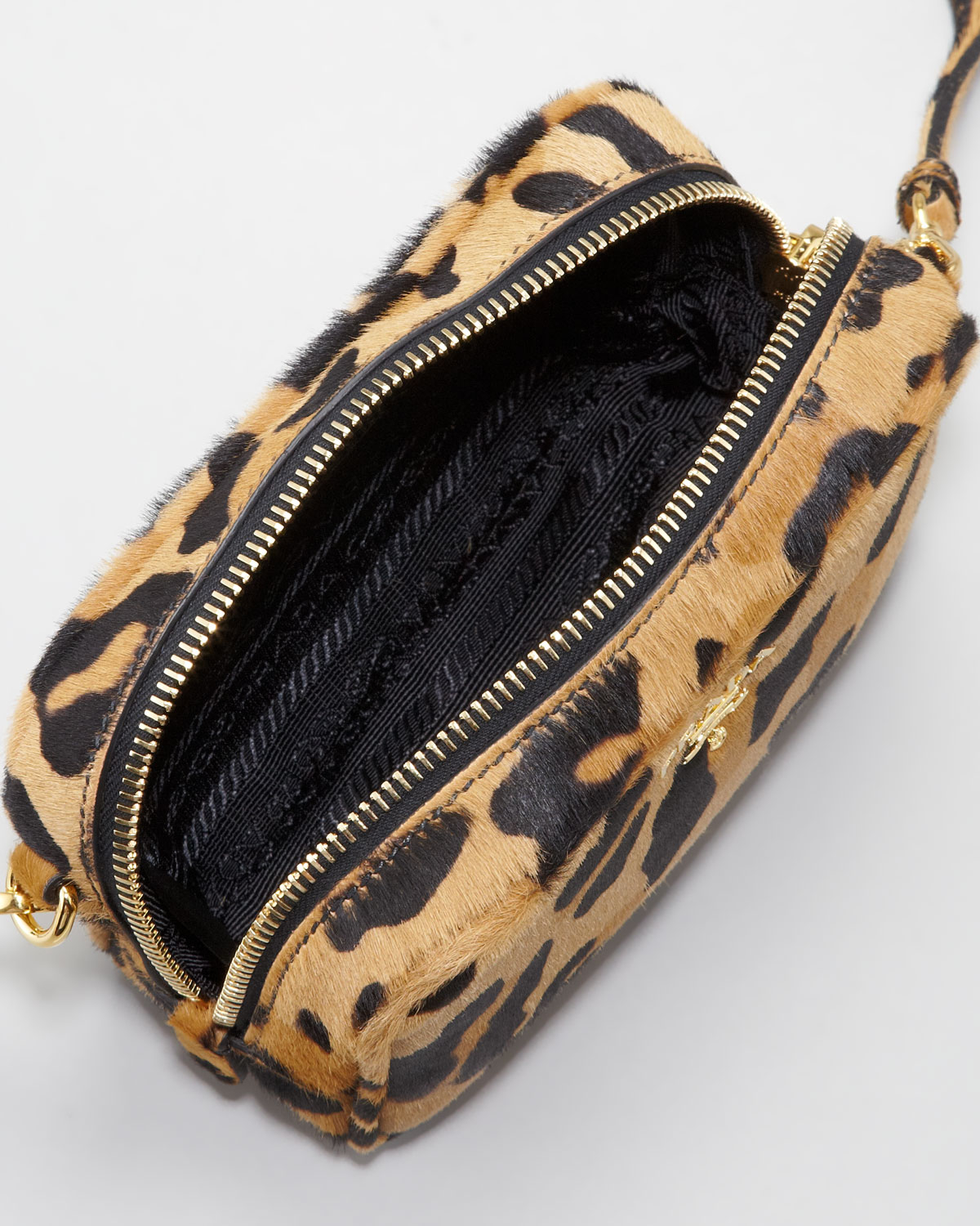 2f84477394 Lyst - Prada Leopard-Print Mini Crossbody Bag