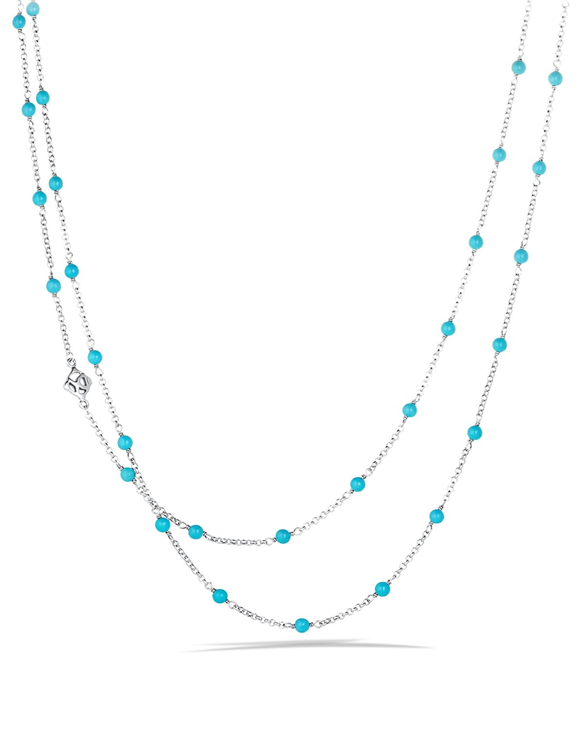Lyst David Yurman Chain Necklace With Turquoise Beads In