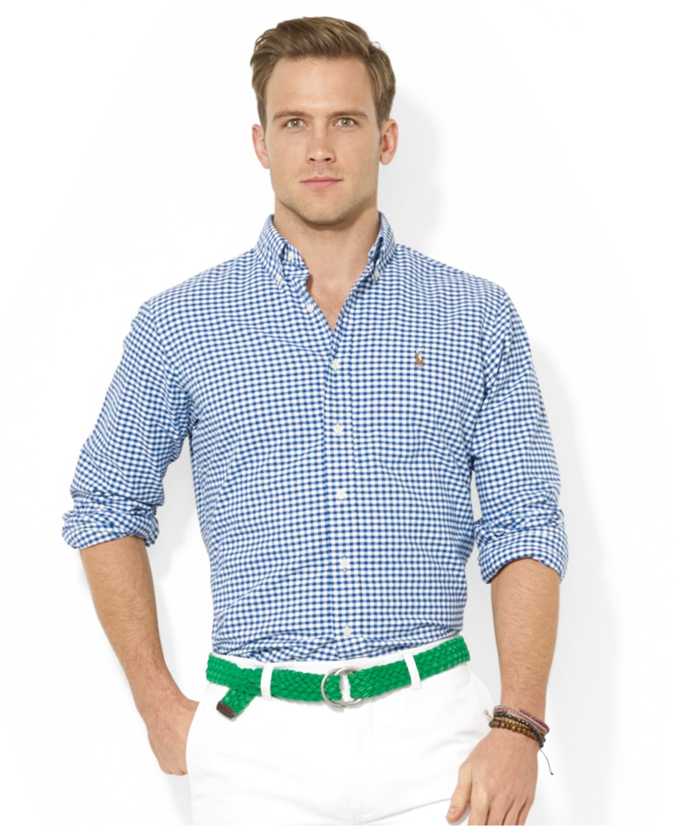 1df38946 Polo Ralph Lauren Core Classic-Fit Checked Oxford Shirt in Blue for ...