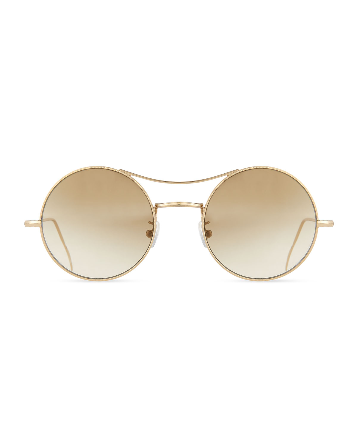 Kyme ros round mirror sunglasses in gold save 50 lyst for Mirror sunglasses
