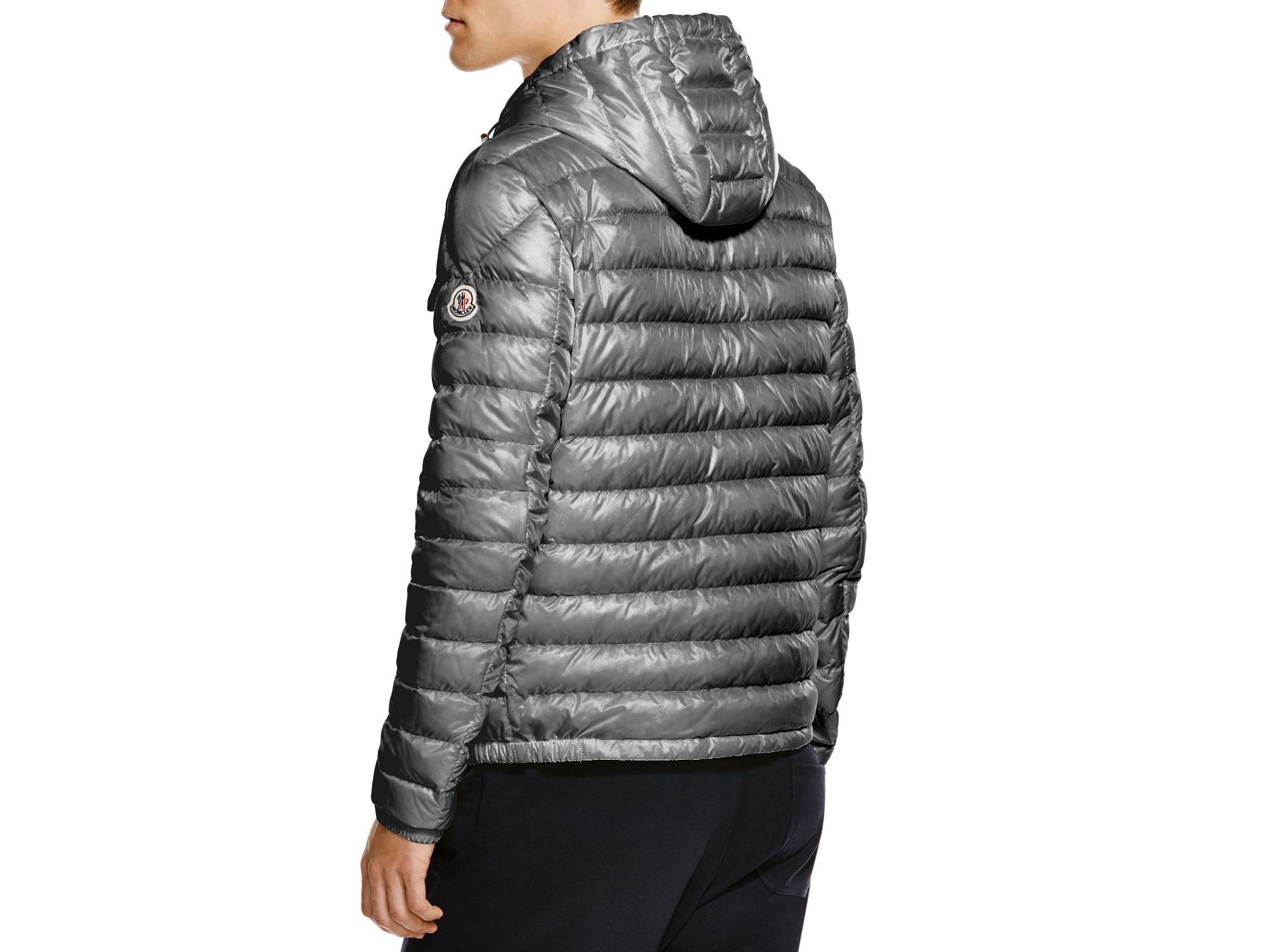 moncler douret quilted down jacket in gray for men lyst. Black Bedroom Furniture Sets. Home Design Ideas