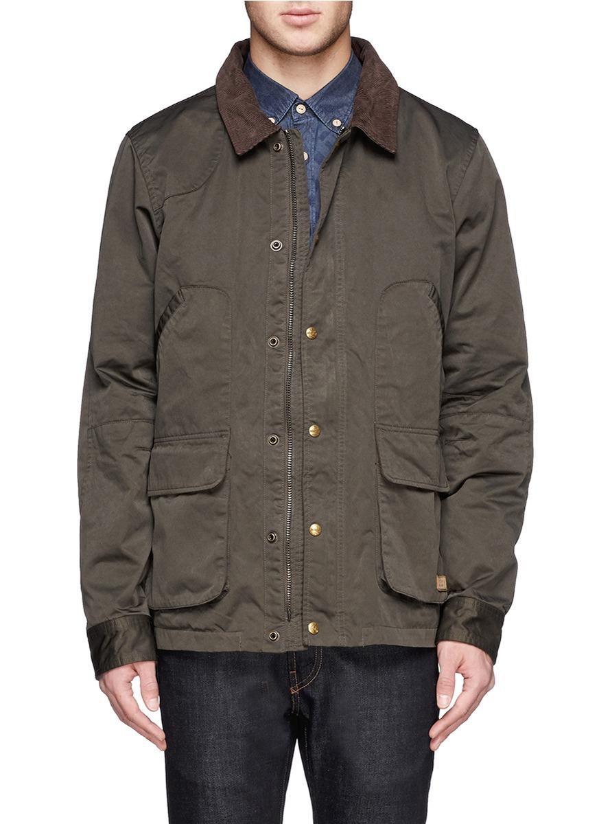 Lyst Scotch Soda Contrast Corduroy Collar Military Jacket In