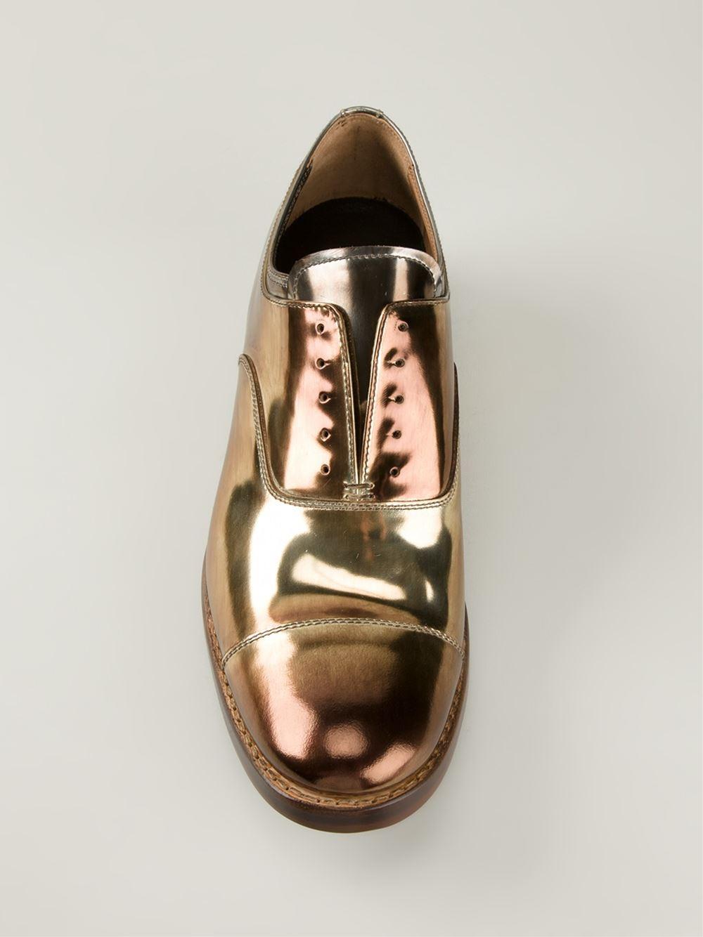 Lyst Premiata Metallic Oxford Shoes In Metallic For Men
