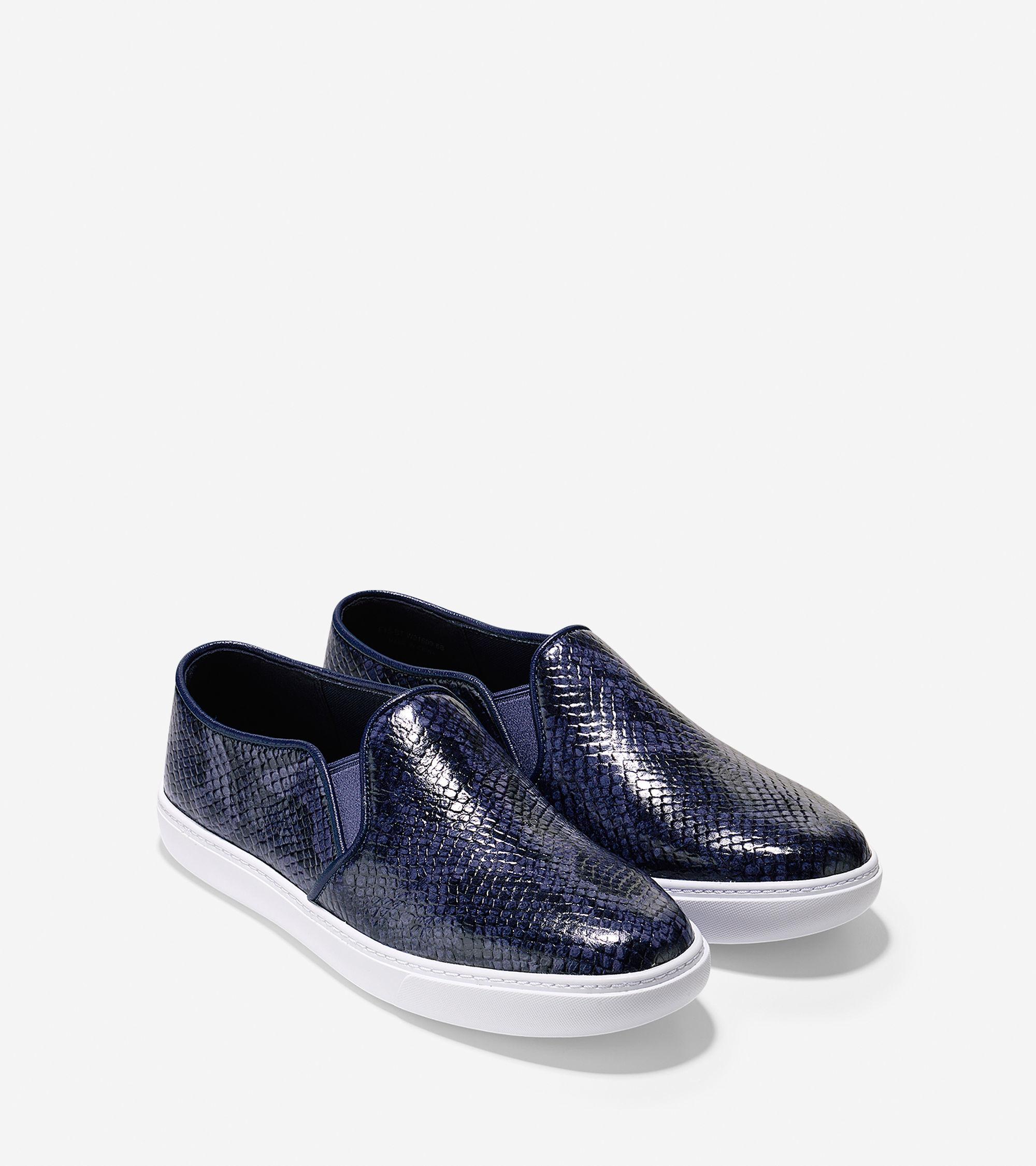 Cole Haan Bowie Slip On Sneaker In Blue
